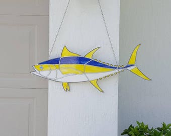 Stained Glass Yellowfin Tuna