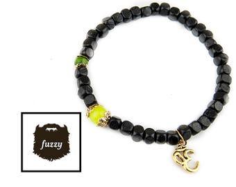 Men Yoga Bracelet, Men Om bracelet, Men Mala bracelet, Men Zen bracelet, Men Buddha Bracelet, Men Bracelet, Wooden bracelet, Chakra Bracelet