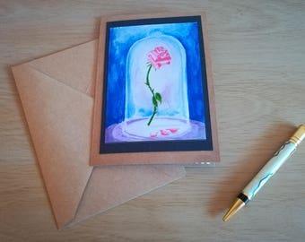 A single rose card