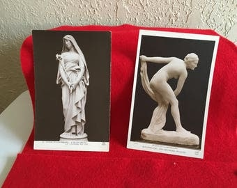 2 Vintage Art Museum Postcards