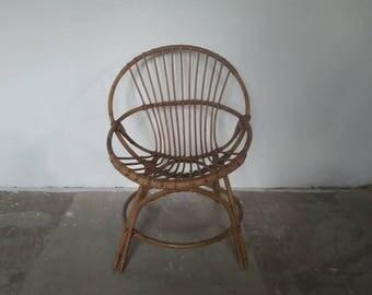 Rattan Kids Chair by Rohe Noordwolde