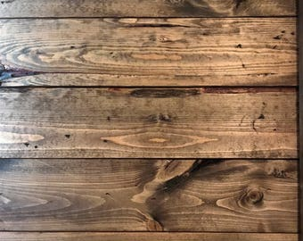 Rustic Wood Wall Planks - Box of 10 1x6 Boards