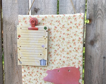 Fabric covered notepad holder