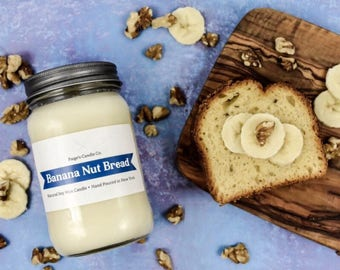 Banana Nut Bread Scented Natural Soy Wax Candle