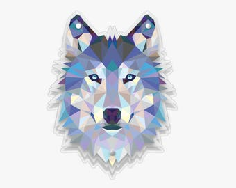 Arctic Wolf Plexiglas Wall Panel