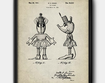 Minnie Mouse · 1931 · Patent · Instant Download · Disney · Vintage · Cartoon · Printable #193