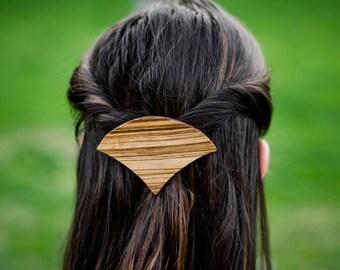 Wooden hair pin