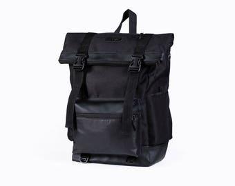 Waxed canvas backpack men,Rolltop backpacks,Bicycle rucksack,Waterproof roll top backpack,Laptop rucksack,backpacks for men gift