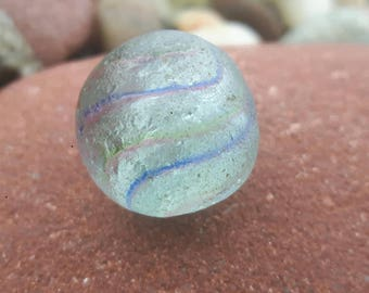 sea worn vintage glass marble genuine surf tumbled beach find
