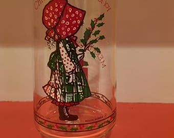 Vintage Holly Hobby Christmas Glass