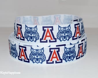 "University of Arizona 1"" Grosgrain Ribbon 223B"