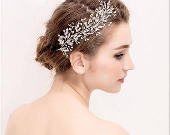 Beautiful Rhinestones Wedding Hair Vine Bridal Tiara Hairband Silver Colour UK