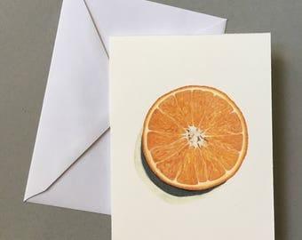 Orange, Blank Card (5 pack)