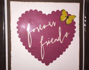 Handmade cards - Forever friends