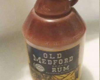 Old Medford Brand Rum Bottle