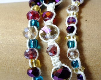 White Hemp Bracelet Set