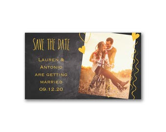 Save the Date Magnet - Heart Strings