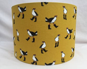 Festival bird fabric lampshade handmade ceiling/table, 30cm or 20cm