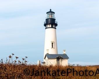 Metal print, art print, lighthouse, Oregon coast, Oregon, Pacific Northwest, canvas