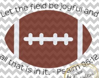 Football Psalm 96:12 SVG