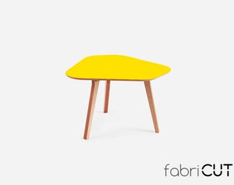 Kitchen table MOCA YELLOW, dining table, wood table, round table, office table, caffee table,