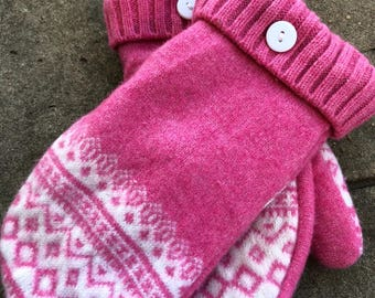 Mittens, Recycled Sweater Mittens, Handmade Mittens, Fleece Lined Sweater Mittens