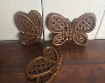 Homco Butterfly Wall Plaques