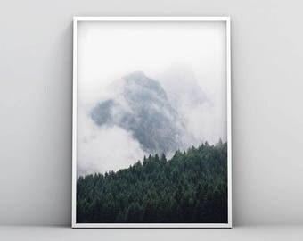 Extreme Minimalism, Minimalist Large Art, Greatest Adventure, Modern Large Print, Wilderness, Large Green Artwork, Forest print, Tree Print