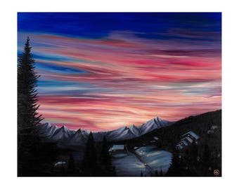 Art - Sunrise - La Tania - 470 x 385 - LIMITED EDITION