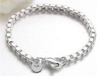 HOT Sale New wholesale fashion JEWELLERY solidi SILVER Chains Bracelet / bangle