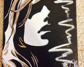"9""x12"" Watercolor painting canvas/ wall decor/ Wall art/ painting/ woman"