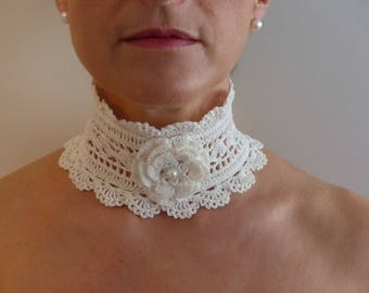 Victorian style crocheted Choker necklace