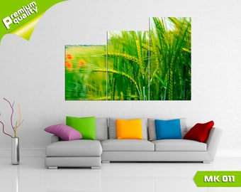 Green grass, Modular painting for Home & Office Decoration, Canvas print wall art, Poster home décor, Multi panel canvas print