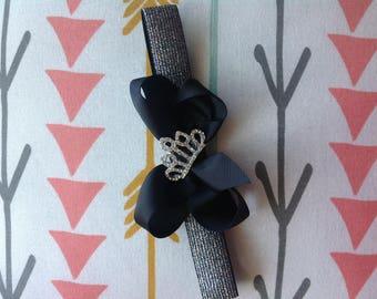 Headband, baby girl headband, baby girl, black bow headband, beautiful headband, bow