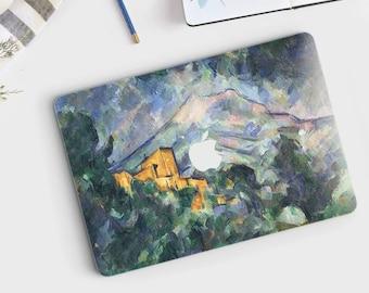 "Paul Cézanne, ""Mont Sainte-Victoire"". Macbook Pro 15 skin, Macbook Pro 13 skin, Macbook 12 skin. Macbook Pro skin. Macbook Air skin."
