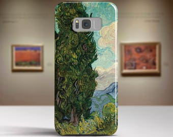 "Vincent van Gogh, ""Cypresses"". Samsung Galaxy Note 8 Case Google Pixel XL Case LG G6 case Galaxy A3 2017 Case and more."