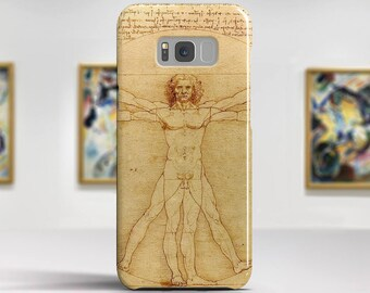 "Leonardo Da Vinci, ""The Vitruvian Man"". Samsung S8 Case, Samsung S7 Case, Samsung S6 Case, Huawei, LG, Google Pixel Cases. Art phone cases."