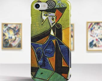 "Pablo Picasso, ""Woman Sitting in an Armchair"". iPhone 8 Case Art iPhone 7 Case iPhone 6 Plus Case and more. iPhone 8 TOUGH cases."