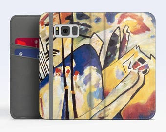 "Vasily Kandinsky, ""Composition IV"". Samsung S8 Wallet case. Galaxy S7 wallet case. Samsung Galaxy S6 wallet case. iPhone Wallet cases."