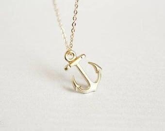 Anchor Necklaces Rose Gold Silver Gold Nautical