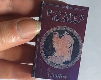 Miniature Book Brooch, Classic Novel, Homer