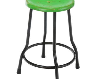 Farmhouse 18 Inch Dining Stool, Green
