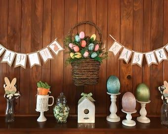 Easter Burlap Banner | Happy Easter  | Hip Hop | Hello Spring | Banner