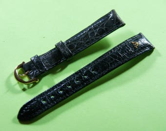 The Swiss brand watchband Maurice Lacroix exotic leather: 15 mm genuine ostrich