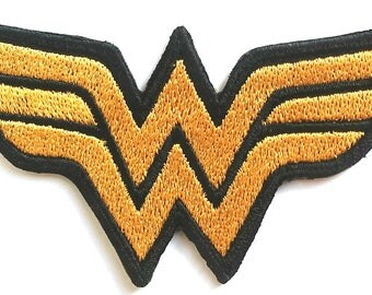 Wonder Woman Patches Embroidered Iron On Bag Jeans Jacket Fancy Badge Applique