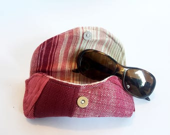Pink Quilted Eye Glass Case with Magnetic Closure