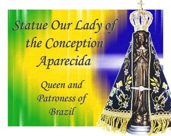 Our Lady of the Conception Aparecida resin statue Original crown