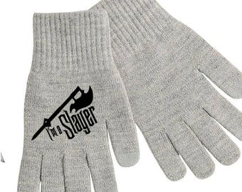 Buffy the Vampire Slayer Chosen Touch Screen Compatible Texting Stretch Knit Gloves Winter Clothes Horror Halloween Merch Massacre