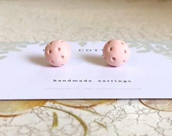 Polka Dot Stud Earrings