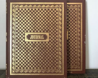 Large Vintage Diary -Journal -Notebook -Blank Book